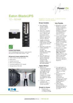 Eaton BladeUPS brochure - Power On Australia - Power