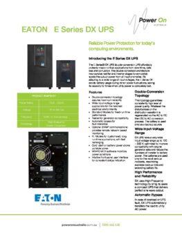 Eaton DX brochure - Power On Australia - Power Solutions