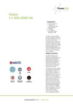 Riello Vision brochure - Power On Australia - Power