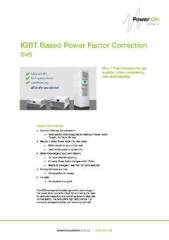 SVG - IGBT Power Factor Correction Brochure - Power On Australia